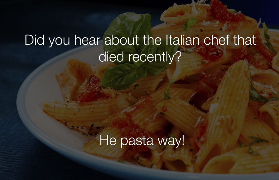 Did you hear about the italian chef who died