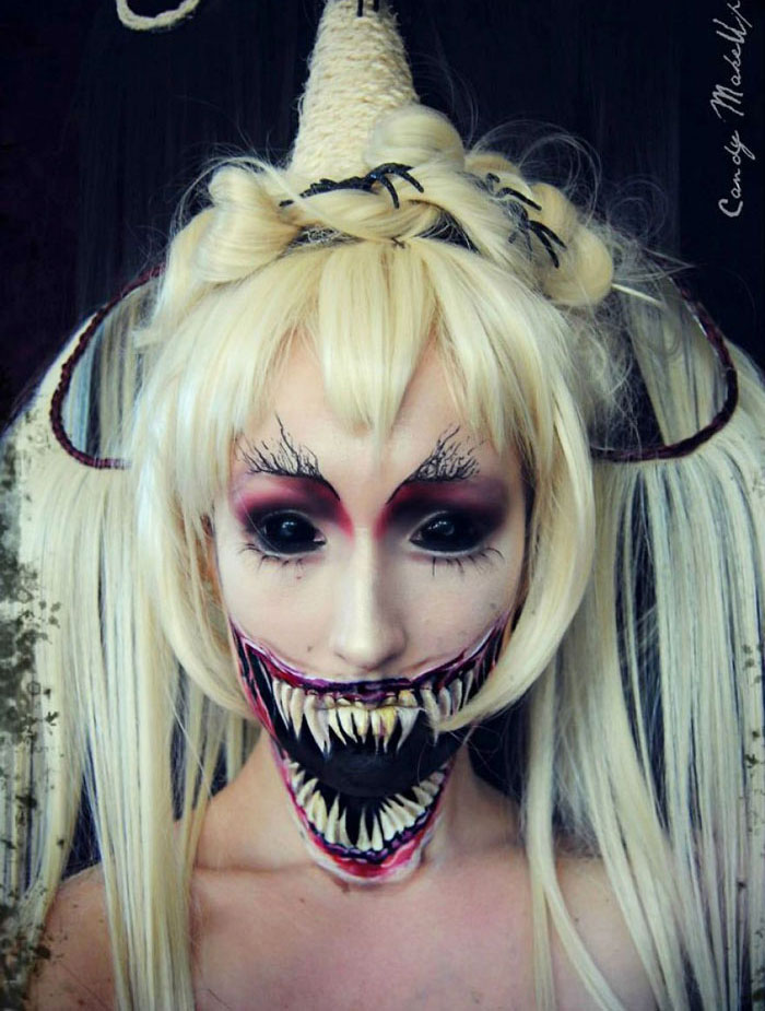 51 Scary Halloween Makeup Ideas That Look Too Creepy